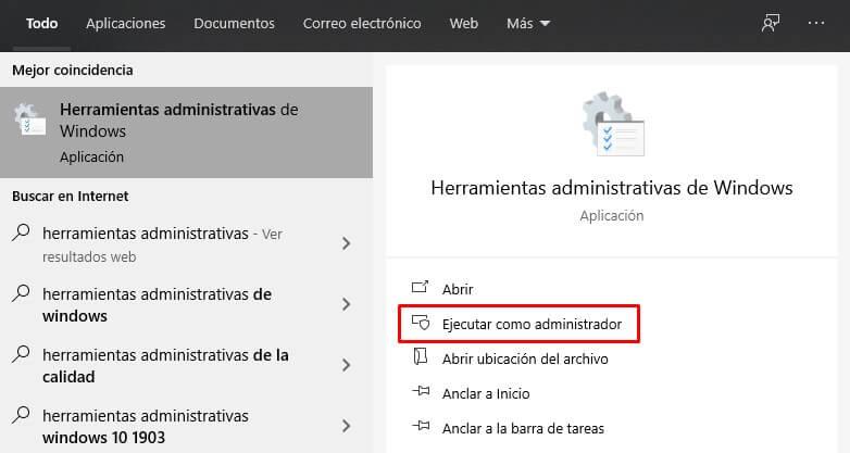 Herramientas Administrativas Windows 10 - acerruti