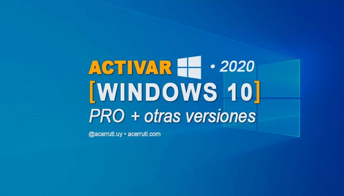 Activar Windows 10 CMD sin programas ni activadores facil 2020